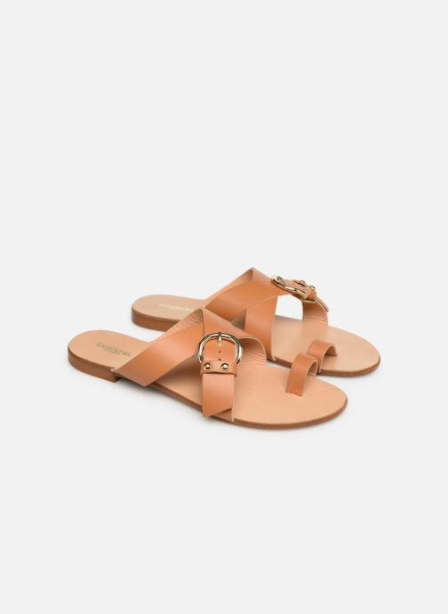 Sandales et nu-pieds Essentiel Antwerp Soquite sandals Marron vue 3/4
