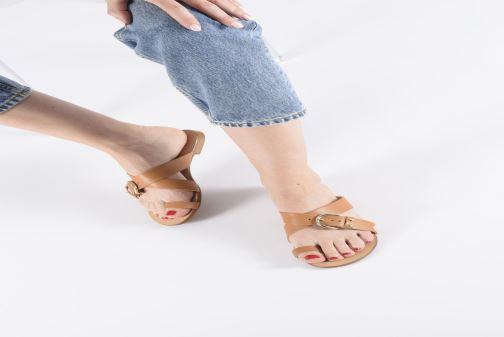Sandales et nu-pieds Essentiel Antwerp Soquite sandals Marron vue bas / vue portée sac