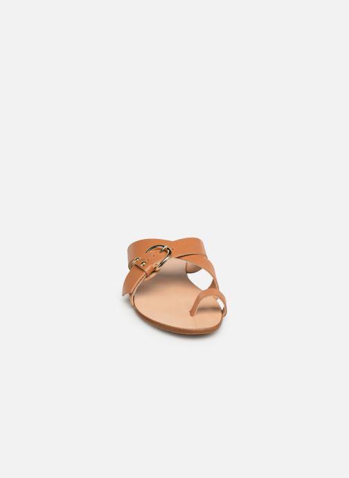 Sandales et nu-pieds Essentiel Antwerp Soquite sandals Marron vue portées chaussures