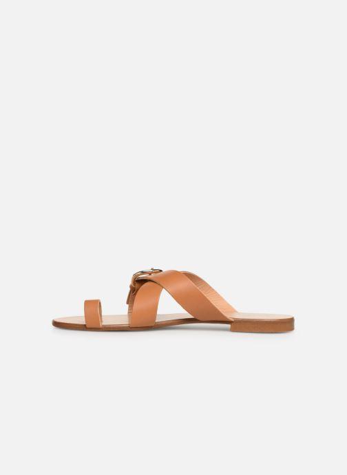 Sandales et nu-pieds Essentiel Antwerp Soquite sandals Marron vue face
