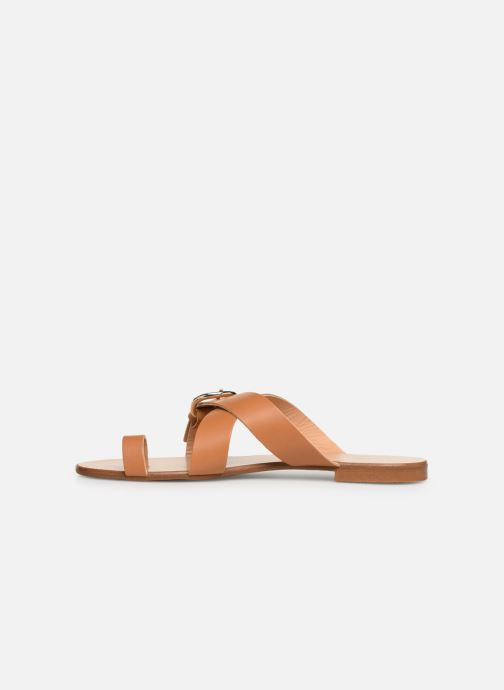 Sandalen Essentiel Antwerp Soquite sandals Bruin voorkant