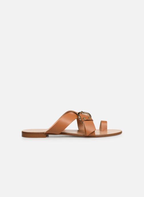 Wedges Essentiel Antwerp Soquite sandals Bruin achterkant