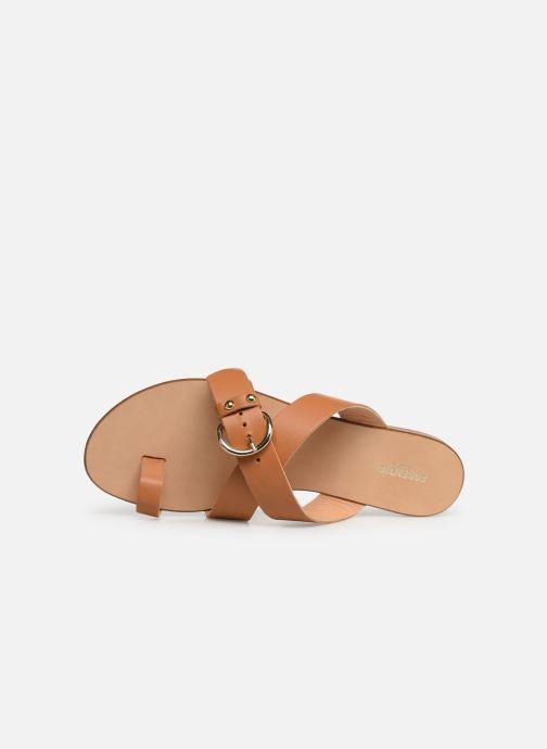 Sandales et nu-pieds Essentiel Antwerp Soquite sandals Marron vue gauche