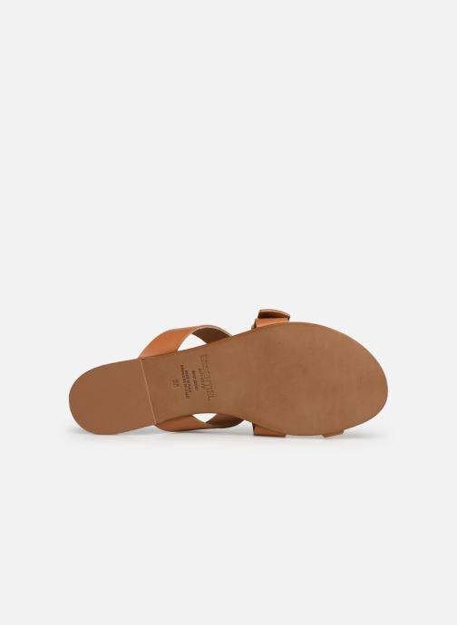 Sandales et nu-pieds Essentiel Antwerp Soquite sandals Marron vue haut