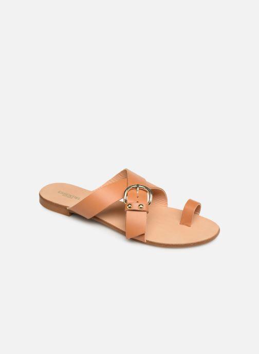Wedges Essentiel Antwerp Soquite sandals Bruin detail