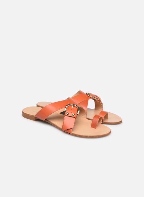 Zuecos Essentiel Antwerp Soquite sandals Naranja vista 3/4