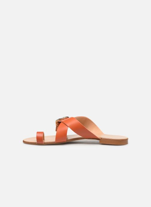 Zuecos Essentiel Antwerp Soquite sandals Naranja vista de frente