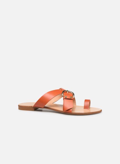 Zuecos Essentiel Antwerp Soquite sandals Naranja vistra trasera