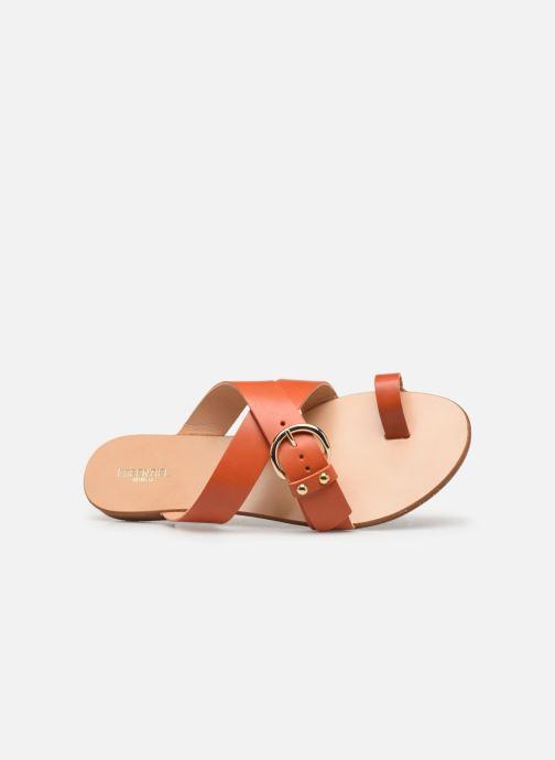 Zuecos Essentiel Antwerp Soquite sandals Naranja vista lateral izquierda