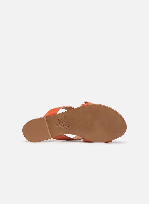Zuecos Essentiel Antwerp Soquite sandals Naranja vista de arriba