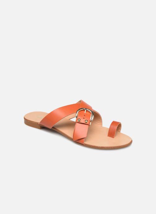 Sandalen Essentiel Antwerp Soquite sandals Oranje detail