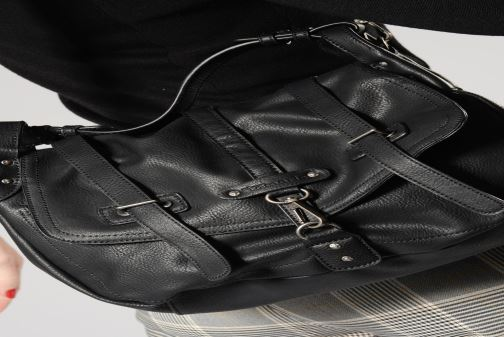Handbags Tamaris Bernadette Satchel Bag Black view from underneath / model view