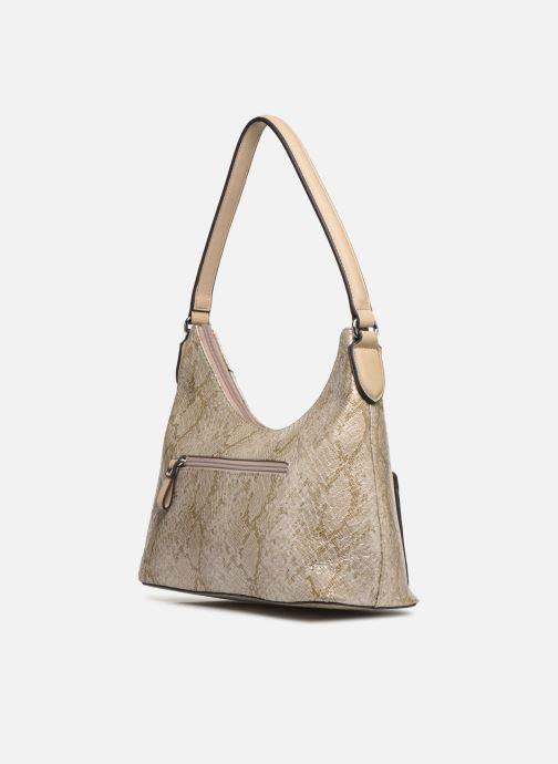 Handbags Tamaris Mirella Hobo Bag S Bronze and Gold view from the right