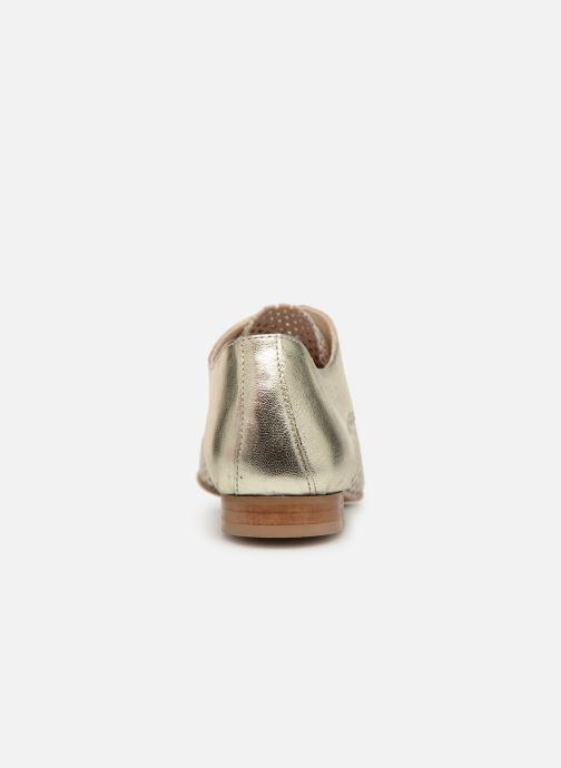Zapatos con cordones Georgia Rose Aenor Oro y bronce vista lateral derecha