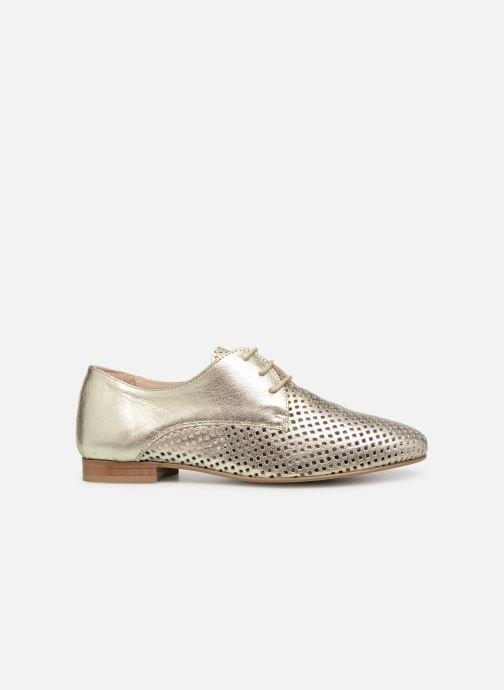Zapatos con cordones Georgia Rose Aenor Oro y bronce vistra trasera