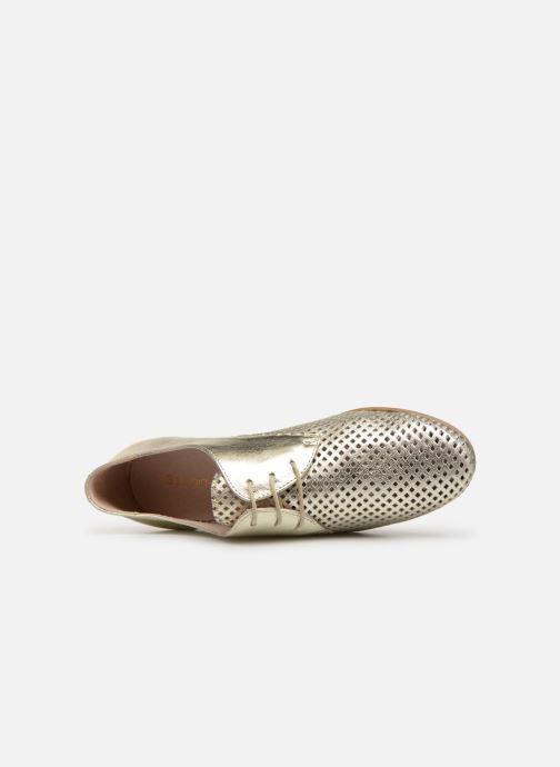 Zapatos con cordones Georgia Rose Aenor Oro y bronce vista lateral izquierda