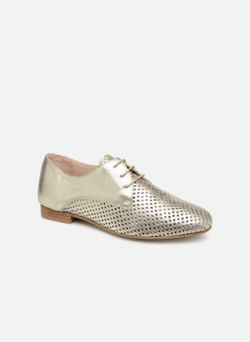 Zapatos con cordones Georgia Rose Aenor Oro y bronce vista de detalle / par