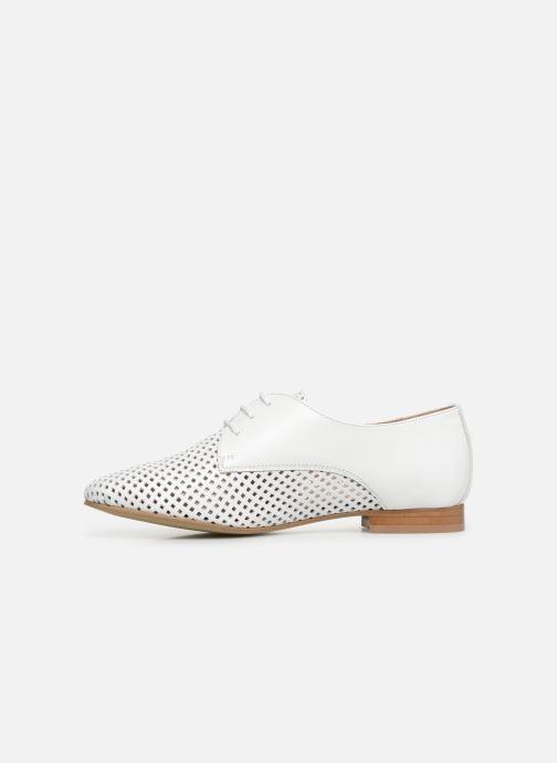 Zapatos con cordones Georgia Rose Aenor Blanco vista de frente