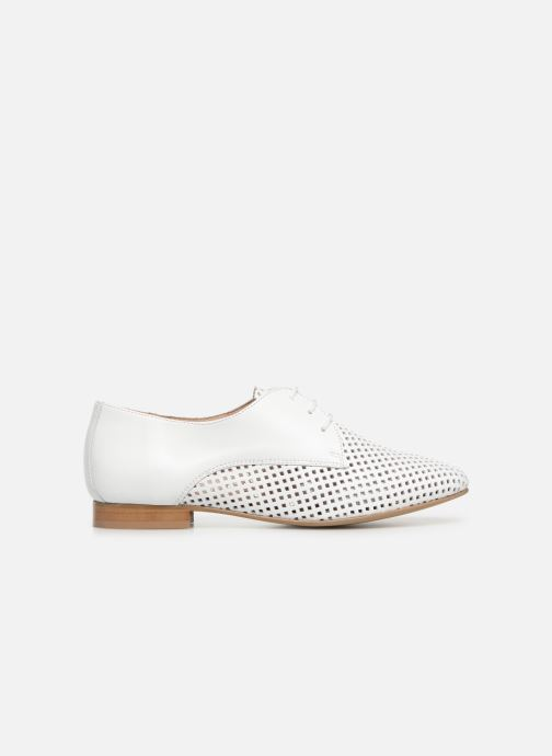 Zapatos con cordones Georgia Rose Aenor Blanco vistra trasera