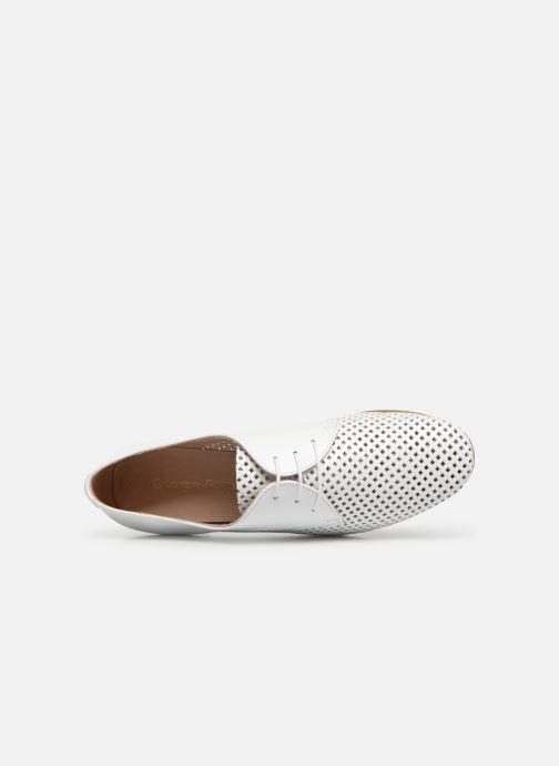 Zapatos con cordones Georgia Rose Aenor Blanco vista lateral izquierda
