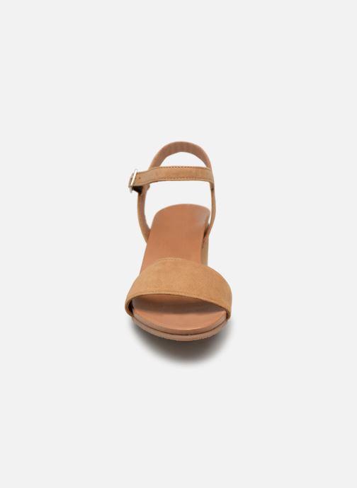 Sandales et nu-pieds Georgia Rose Ablican soft Marron vue portées chaussures