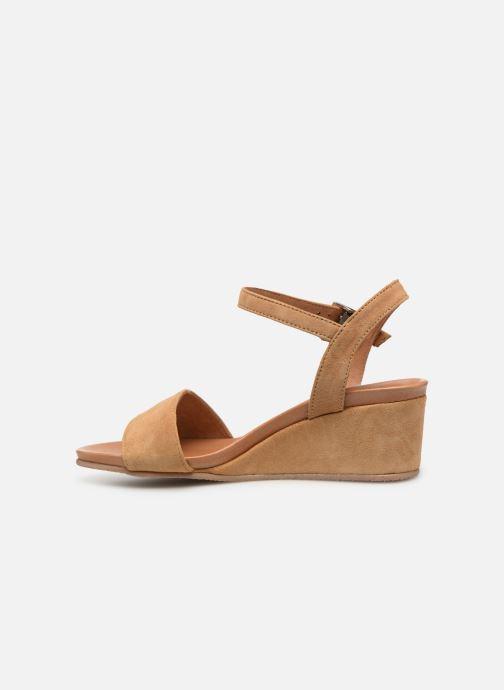 Sandales et nu-pieds Georgia Rose Ablican soft Marron vue face