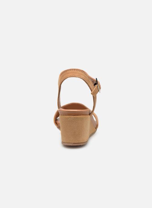 Sandales et nu-pieds Georgia Rose Ablican soft Marron vue droite