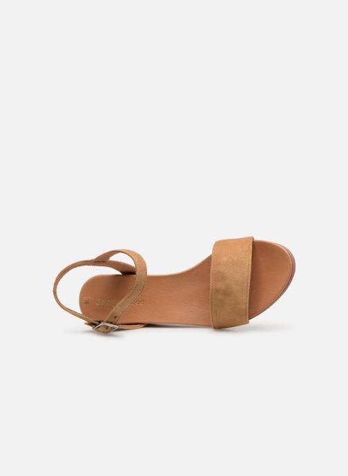 Sandales et nu-pieds Georgia Rose Ablican soft Marron vue gauche