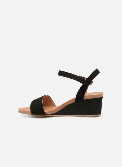 Sandales et nu-pieds Georgia Rose Ablican soft Noir vue face