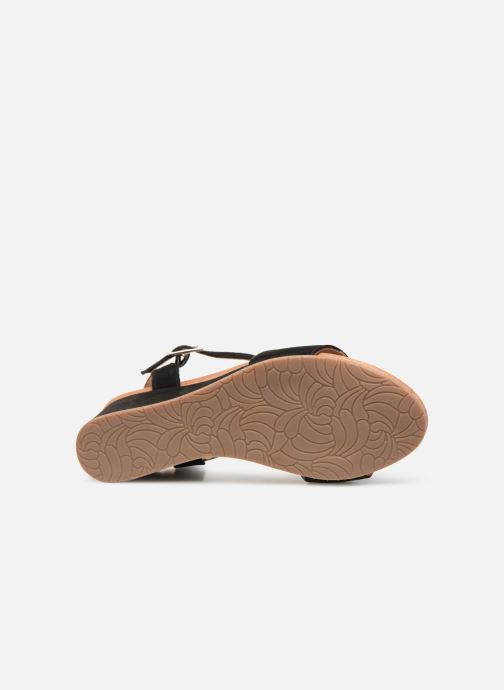 Sandales et nu-pieds Georgia Rose Ablican soft Noir vue haut