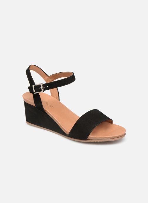 Sandaler Georgia Rose Ablican soft Sort detaljeret billede af skoene