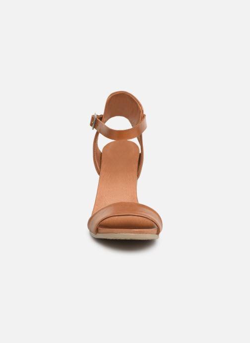 Sandales et nu-pieds Georgia Rose Amumy soft Marron vue portées chaussures