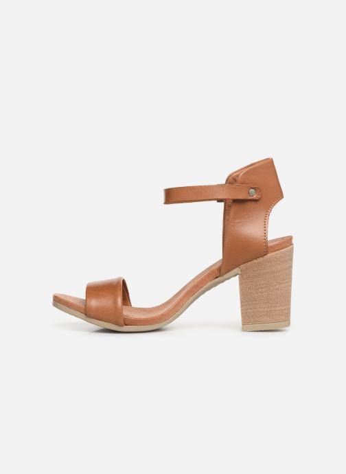 Sandalen Georgia Rose Amumy soft braun ansicht von vorne