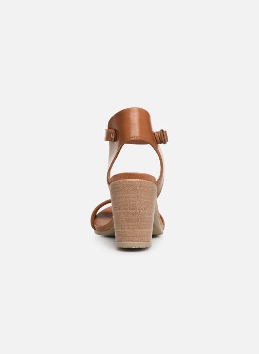 Sandales et nu-pieds Georgia Rose Amumy soft Marron vue droite
