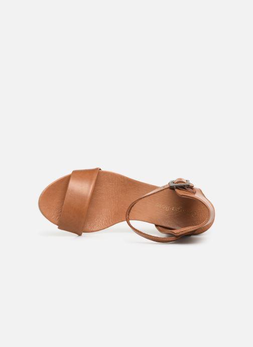 Sandales et nu-pieds Georgia Rose Amumy soft Marron vue gauche