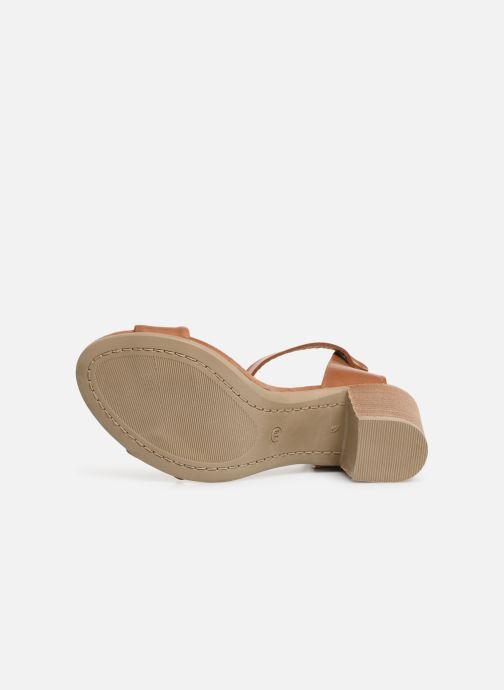 Sandales et nu-pieds Georgia Rose Amumy soft Marron vue haut