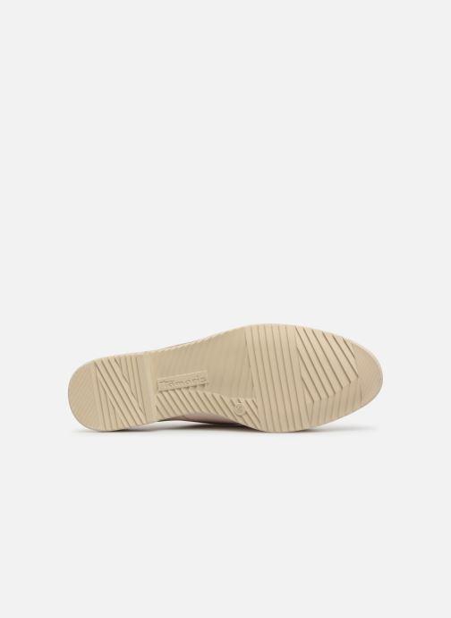 Chaussures à lacets Tamaris Constanze Beige vue haut
