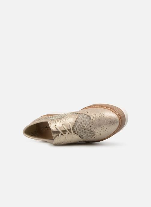 Chaussures à lacets Tamaris Cornelia Or et bronze vue gauche