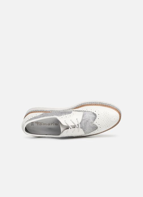 Lace-up shoes Tamaris Cornelia White view from the left