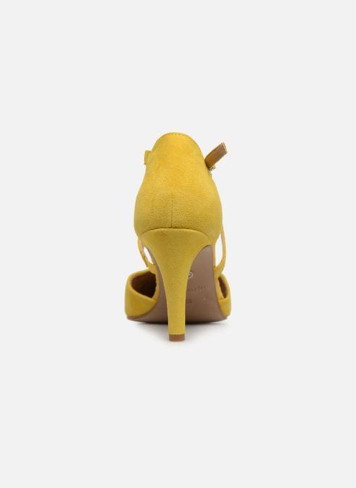 Zapatos de tacón Tamaris Lydia Amarillo vista lateral derecha