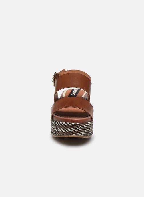 Sandalen Gioseppo 48567 braun schuhe getragen