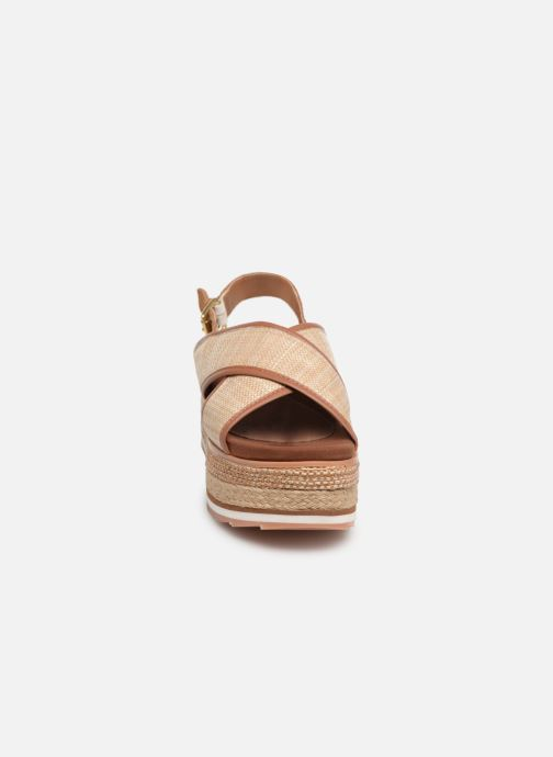 Sandales et nu-pieds Gioseppo 47205 Marron vue portées chaussures