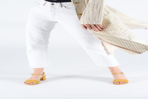 Sandales et nu-pieds Gioseppo 49044 Jaune vue bas / vue portée sac