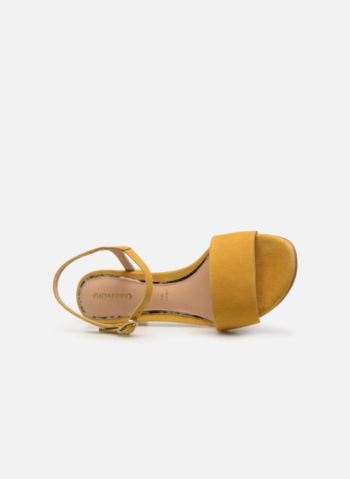 Sandals Gioseppo 49044 Yellow view from the left
