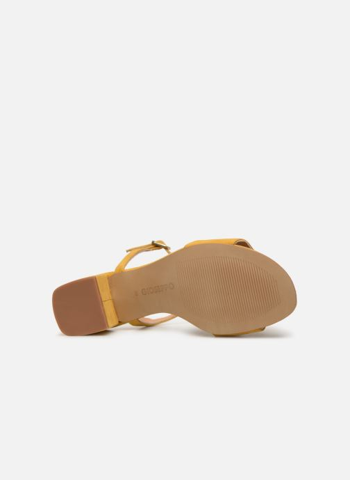 Sandals Gioseppo 49044 Yellow view from above