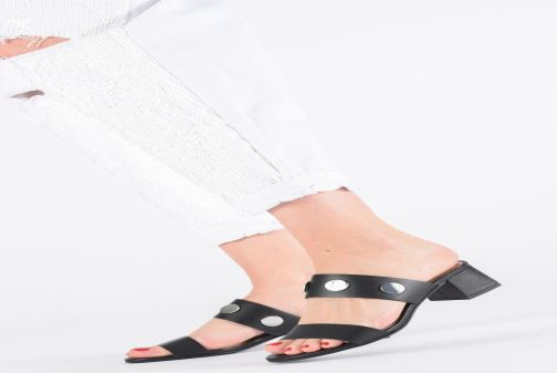 Mules & clogs Gioseppo 49040 Black view from underneath / model view