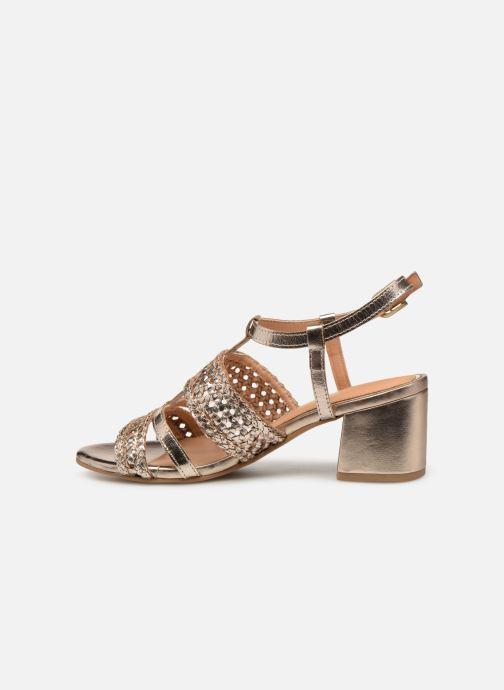 Sandales et nu-pieds Gioseppo 49070 Or et bronze vue face