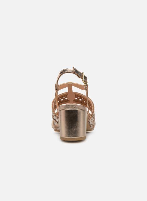 Sandales et nu-pieds Gioseppo 49070 Or et bronze vue droite