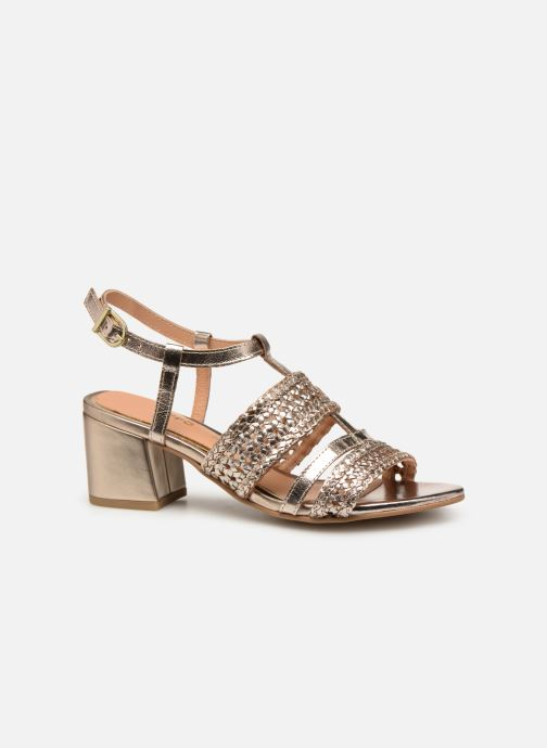 Sandales et nu-pieds Gioseppo 49070 Or et bronze vue derrière