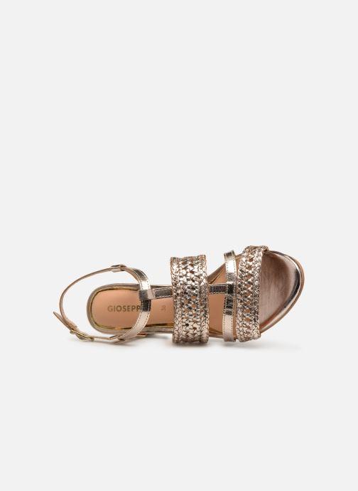 Sandales et nu-pieds Gioseppo 49070 Or et bronze vue gauche